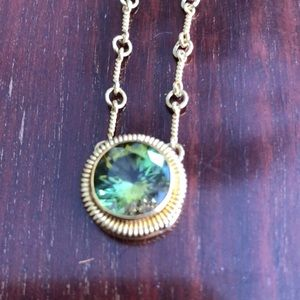 Jewelry - 18k gold ANDREW SAROSI green Tanzania tourmaline